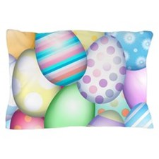 Decorated Eggs Pillow Case