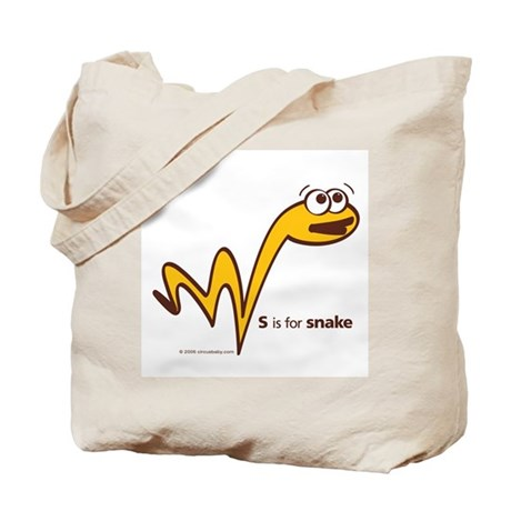 """S is for Snake"" Tote Bag"