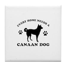 Every home needs a Canaan Dog Tile Coaster