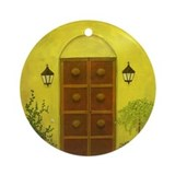 StephanieAM Wood Door2 Ornament (Round)