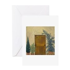 StephanieAM Wood Door Greeting Card