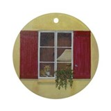 StephanieAM Red Window Ornament (Round)