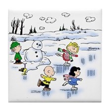 Snow Scene Tile Coaster