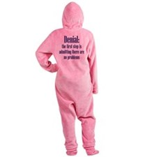 First Step of Denial Footed Pajamas