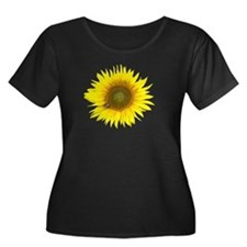 dark sunflower design Plus Size T-Shirt
