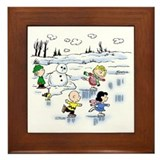 Snow Scene Framed Tile