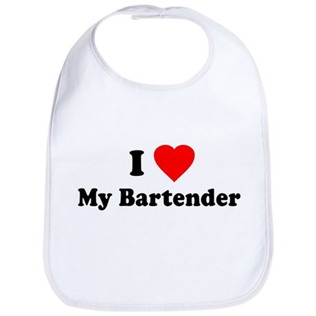I Love [Heart] My Bartender Bib