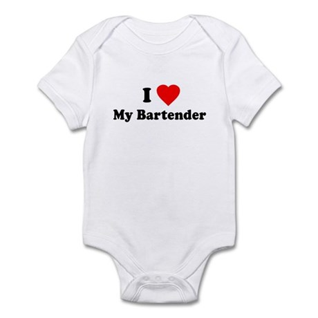 I Love [Heart] My Bartender Infant Bodysuit