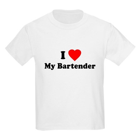 I Love [Heart] My Bartender Kids T-Shirt