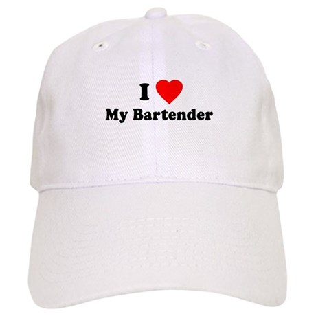 I Love [Heart] My Bartender Cap