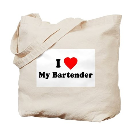 I Love [Heart] My Bartender Tote Bag