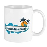 Fernandina Beach - Surf Design. Mug