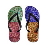 Flip Flops Brown Paisley Design