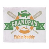 Grandpas Fishing Buddy Throw Blanket