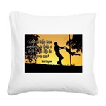 Mr. Rogers Child Hero Quote Square Canvas Pillow