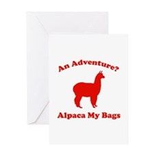 An Adventure? Alpaca My Bags Greeting Card