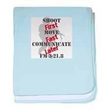 Shoot, move, and communicate baby blanket