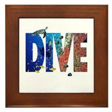 Scuba Dive! Framed Tile