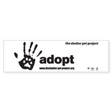 Funny Pet adoption Bumper Sticker