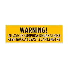 Drone Strike Warning Car Magnet 10 x 3