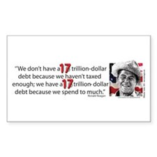 Ronald Reagan Explains the Debt Crisis Decal