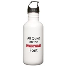 All Quiet on the Western Font Water Bottle