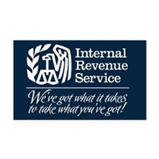 IRS Parody Rectangle Car Magnet