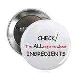 "Wheat Allergy 2.25"" Button (10 pack)"