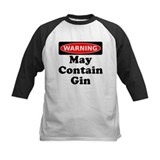Warning May Contain Gin Baseball Jersey