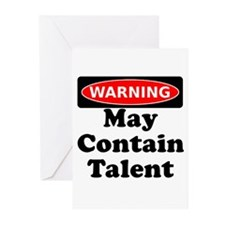 Warning May Contain Talent Greeting Cards (Pk of 1