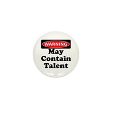 Warning May Contain Talent Mini Button (100 pack)