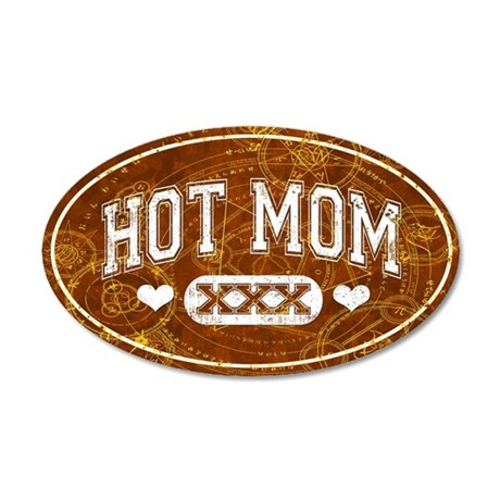 Hot Mom Brown Wall Decal