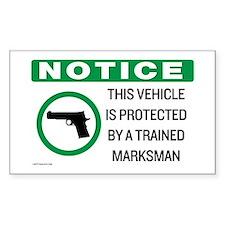 Vehicle Marksman Notice Decal