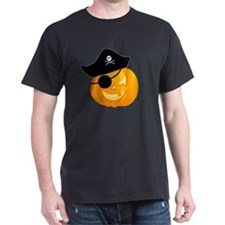 Pirate Jack o'Lantern Black T-Shirt