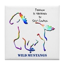 Wild Mustangs Tile Coaster