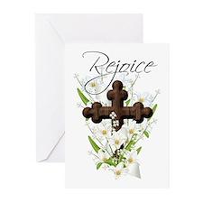 Rejoice, Easter Greeting Card cross (Pk of 20)
