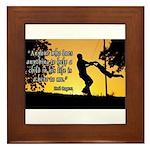 Mr. Rogers Child Hero Quote Framed Tile