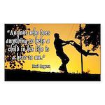 Mr. Rogers Child Hero Quote Sticker (Rectangle)