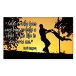 Mr. Rogers Child Hero Quote Sticker (Rectangle 10