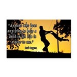 Mr. Rogers Child Hero Quote Rectangle Car Magnet