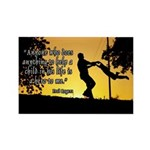 Mr. Rogers Child Hero Quote Rectangle Magnet (100