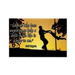 Mr. Rogers Child Hero Quote Rectangle Magnet (10 p