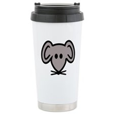 Mouse head face Ceramic Travel Mug