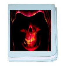 Glowing red grim reaper baby blanket