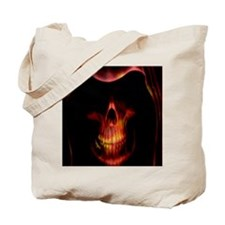 Glowing red grim reaper Tote Bag