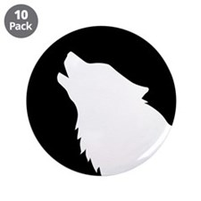 "Wolf moon night 3.5"" Button (10 pack)"