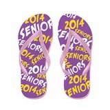 Purple Gold Yellow Senior Class OF 2014 Flip Flops