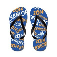 Orange and Blue Senior Class OF 2014 Flip Flops