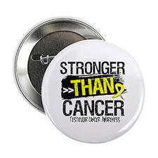 "Stronger Testicular Cancer 2.25"" Button (100 pack)"