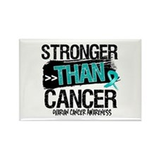 Stronger Than Ovarian Cancer Rectangle Magnet